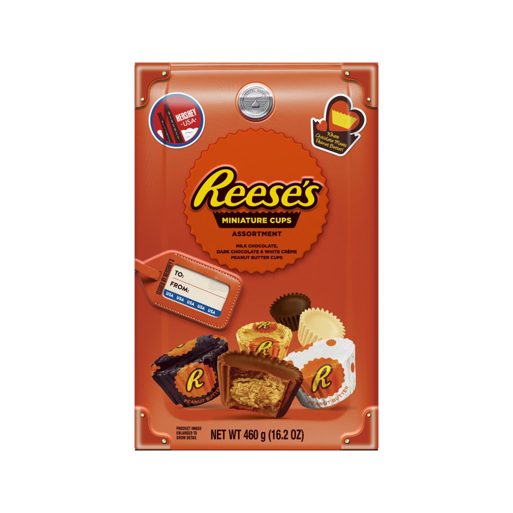 REESE'S MILK CHOCOLATE PEANUT BUTTER CUPS MINIATURES CANDY ASSORTMENT BOX 460G image