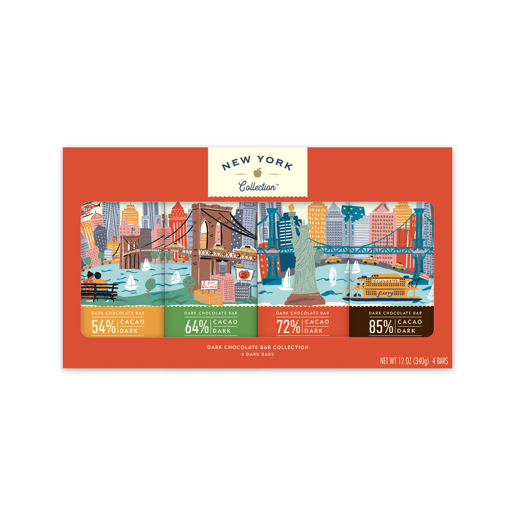 New York Collection Variety 4 pack Dark Chocolate Tablets image