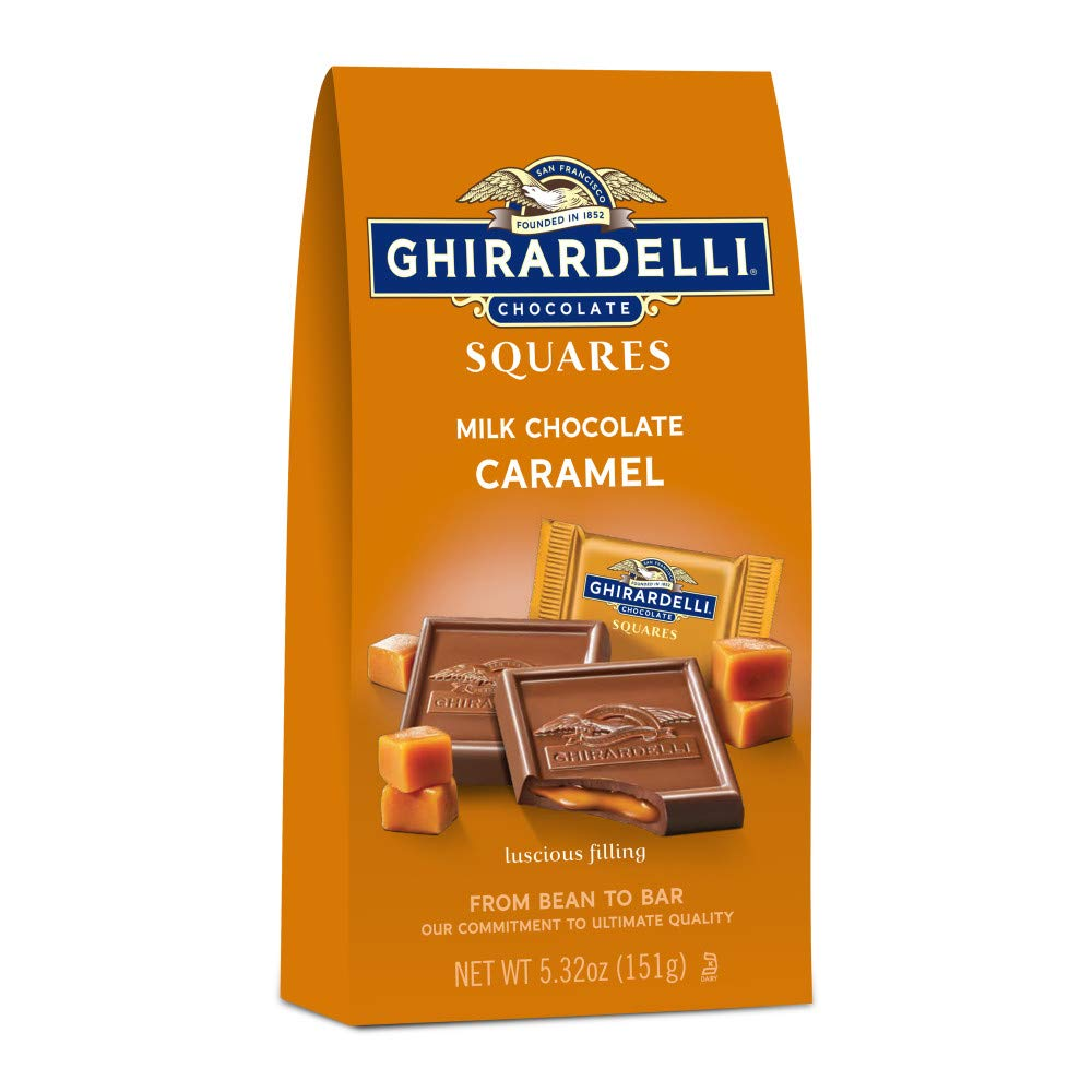 Ghirardelli Chocolate Squares, Milk Chocolate with Caramel Filling